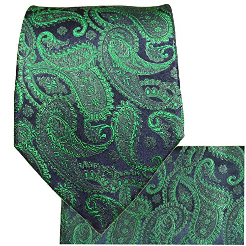 Silk green Malone Mens wedding Set Necktie Handkerchief blue 100 Tie Paul 2pcs U8xFCxqRwt