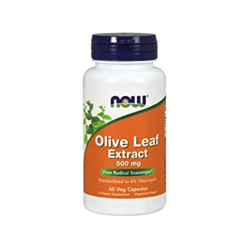 NOW Supplements, Olive Leaf Extract 500 mg, 60 Veg Capsules