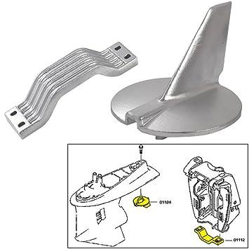 Tecnoseal ánodo Kit Yamaha 200 -250 HP magnesio Polybag: Amazon.es: Deportes y aire libre