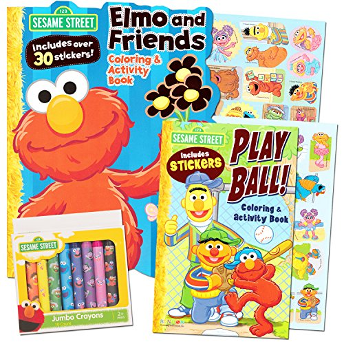 Sesame Street Coloring Crayons Stickers