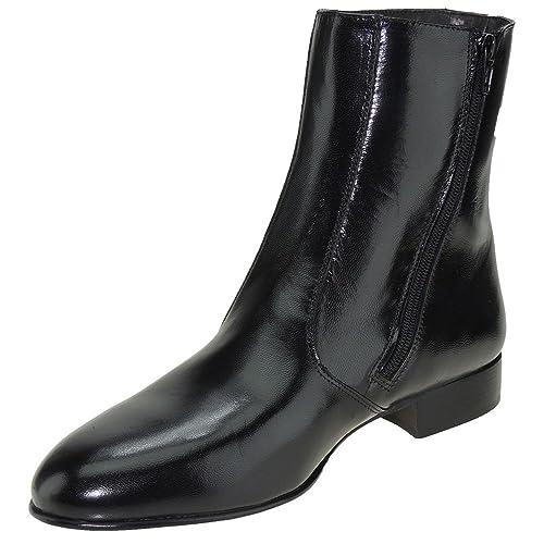 88081b1046a JYP 1550 Bota Vestir en Piel Caprina Tacón Bajo y Cremallera para Hombre   Amazon.es  Zapatos y complementos