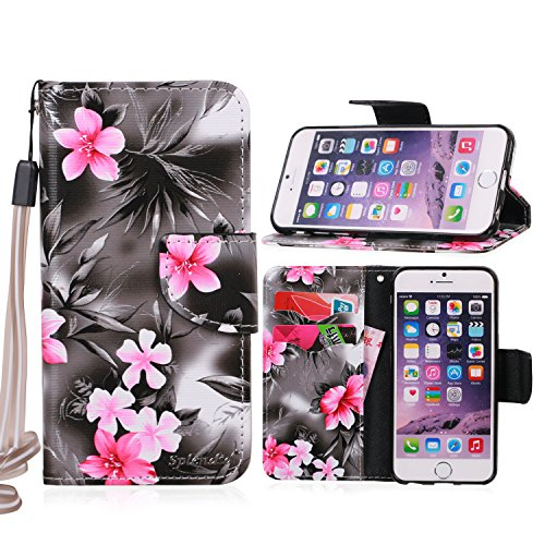 splendidtm-iphone-6-6s-wallet-case-black-pink-shining-gray-flower-flip-folio-stand-leather-wallet-ca