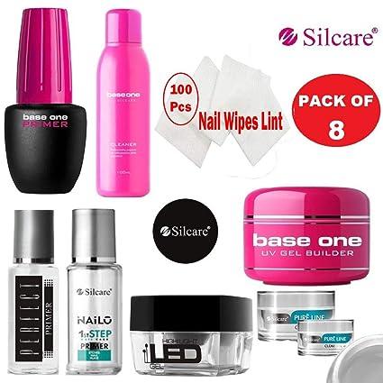 Kit de esmalte de uñas de gel UV de base Silcare (08 piezas) para