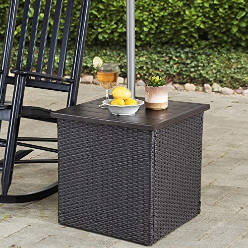 Sunjoy A210000602 Vanessa Combination Umbrella Stand Side Table