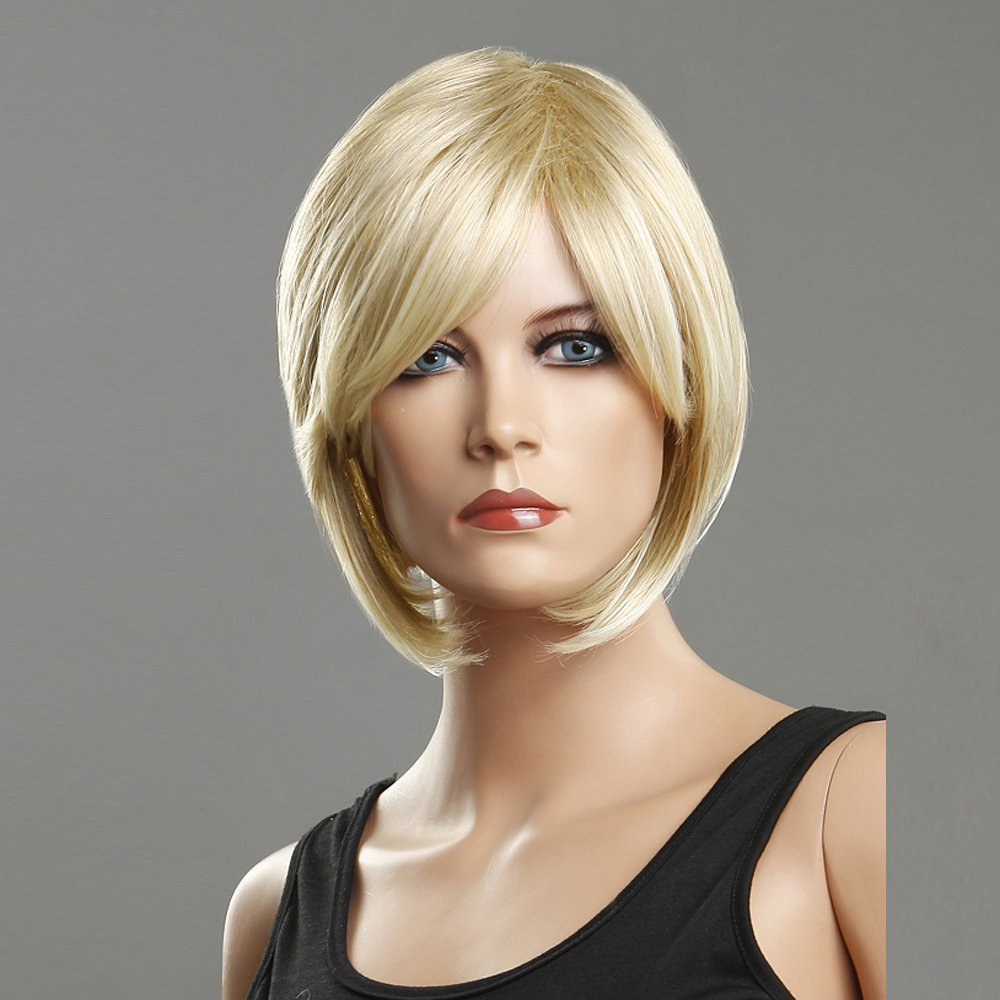 Amazon New Fashion Simple Layered Short Straight Blonde Hair