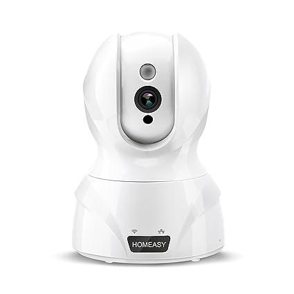 HOMEASY Camara Vigilancia IP Cámara de Seguridad Inalámbrica HD 720 P WiFi Interior Vigilancia del Monitor