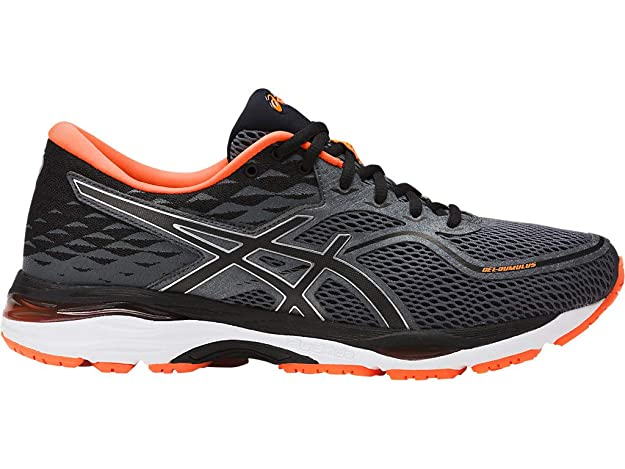 ASICS Mens Gel-Cumulus 19 Running Shoe, Carbon/Black/Hot Orange, 10 Medium US