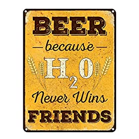 Funny Beer Signs, Metal Sign Brewery, Bar Accessories and Wall Decorations, Man Cave Decor, USA Made