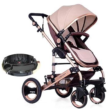 3469bc443 JYY Cochecito Infantil para Recién Nacidos Y Niños Pequeños Canastilla De  Asiento De Cochecito De Bebé Convertible para Bebé, 0-3 Años,Khaki:  Amazon.es: ...