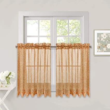 sheer valances window treatments ideas nicetown bedroom sheer valancetiers home fashion tiers paisley pattern faux linen voile window amazoncom