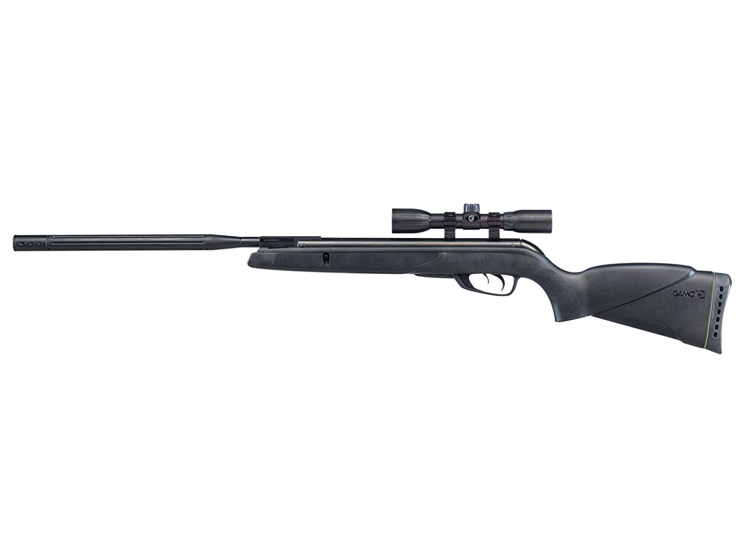 Gamo Wildcat Whisper Air Rifle .22 Caliber 975 FPS – Black 611006785554