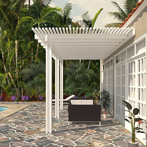 Heritage Patios White Aluminum Attached Pergola - 10 ft. x 20 ft. (White) by Heritage Patios