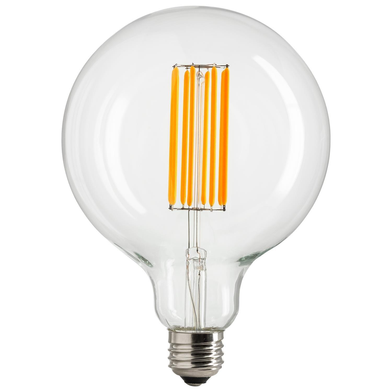 Sunlite G40/LED/AQ/6W/DIM/CL/22K/L Vintage G40 Globe 6W LED Antique Filament Style Light Bulb 2200K Medium E26 Base 60W Incandescent Replacement Lamp, Warm White