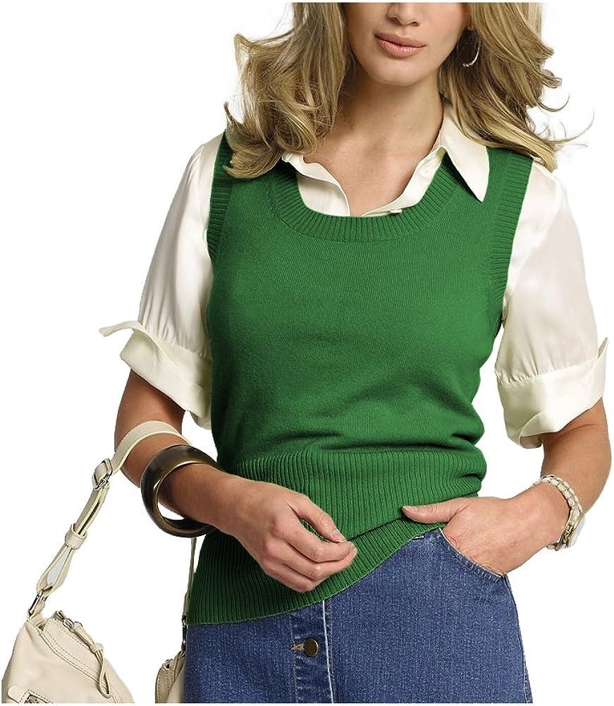 Parisbonbon Women's 100% Cashmere Scoop Neck Vest