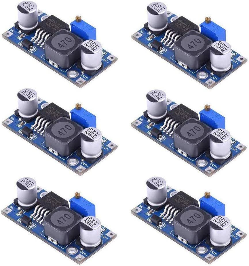 DC to DC 3.0-40V to 1.5-35V Step Down Power Supply High Efficiency Voltage Regulator Module 6 Pcs MCIGICM LM2596 Buck Converter