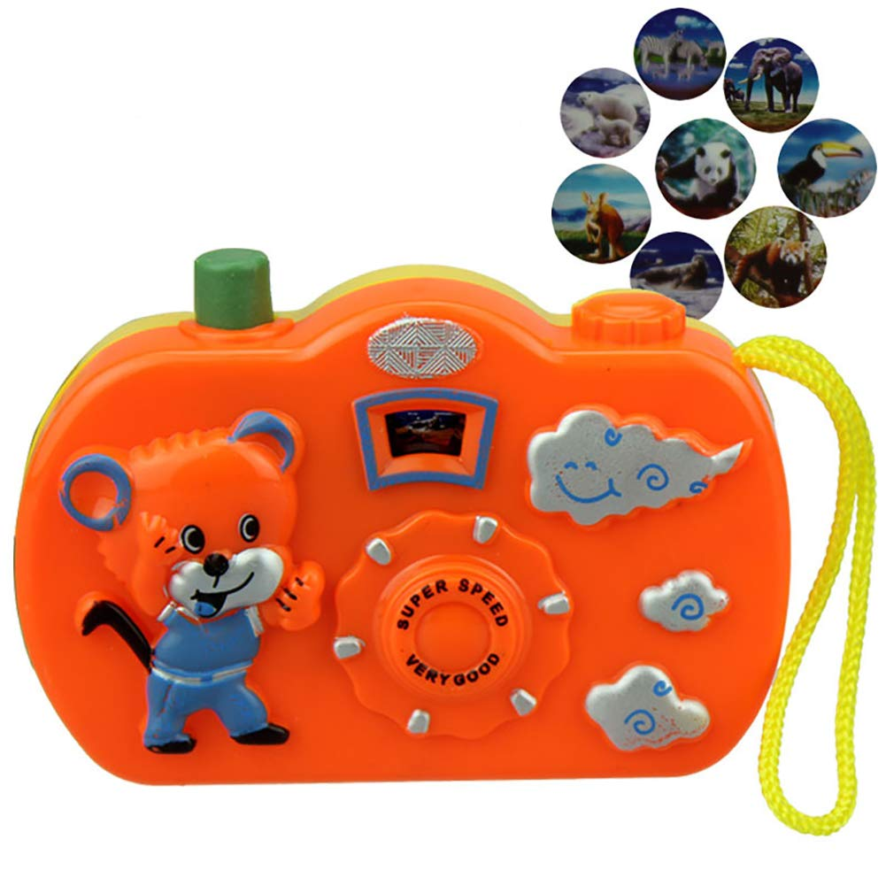 Slendima 8 Patterns Change Fun Cartoon Camera Toy Cognition Educational Toys Birthday Gift for Kids