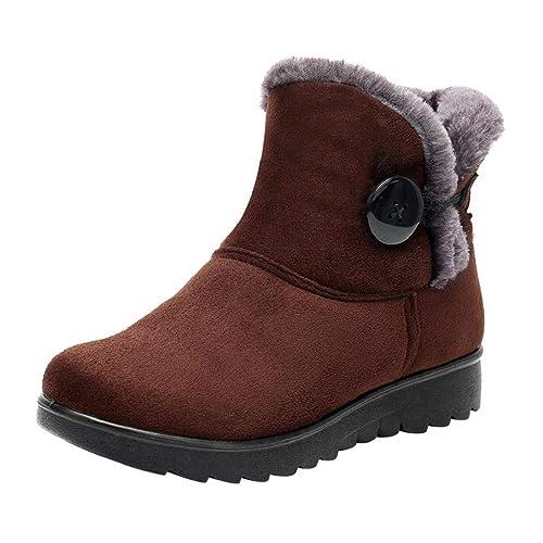 QUICKLYLY Botas de Mujer,Botines para Adulto,Zapatos Otoño/Invierno 2018,Damas De Tobillo Martim De Nieve Cortas Piel: Amazon.es: Zapatos y complementos