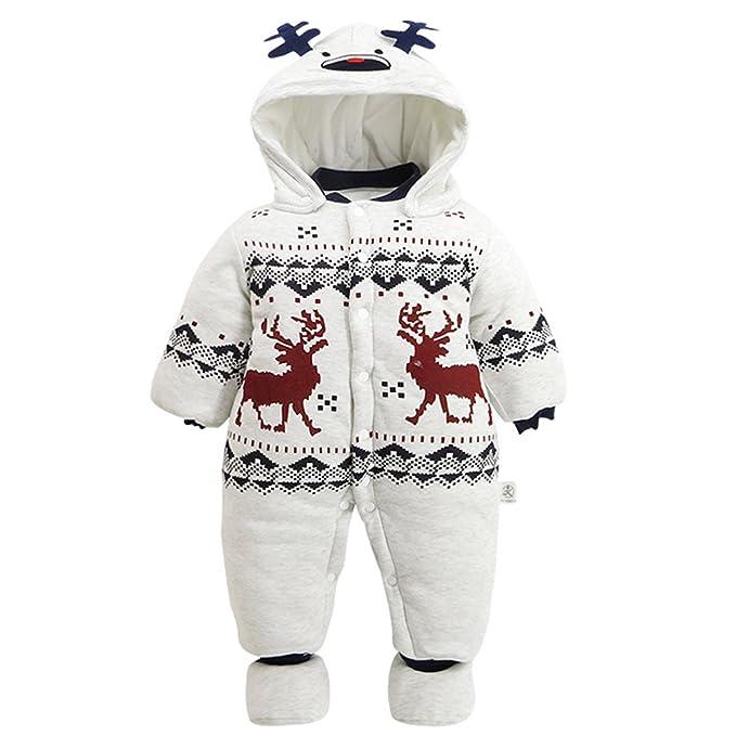 5d2c9d75d Amazon.com  A J Design Baby Boys  Infant Christmas Elk Deer Thick ...