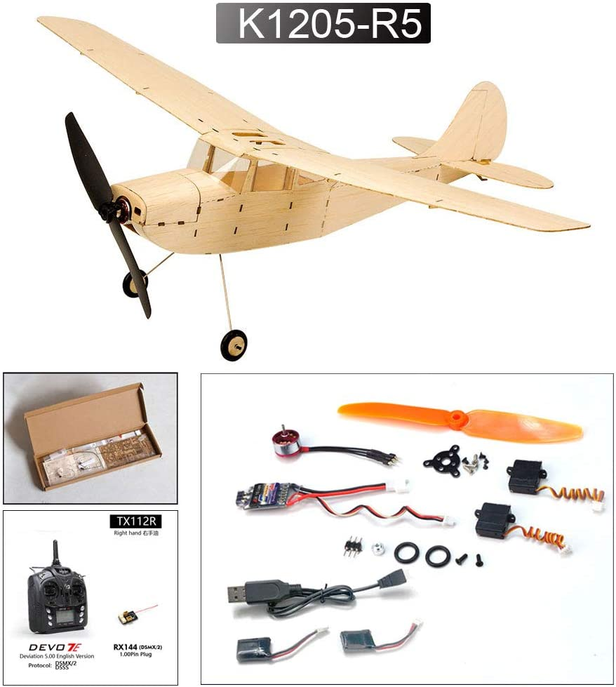 K1205-L5 Dancing Wings Hobby Micro Indoor Balsa Electric Airplane Cessna L-19 445mm Wingspan Laser Cut Kit to Build for Adults