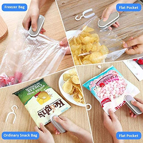 Portable Sealing Bag Machine Mini Bag Sealer Machine Handheld Heat Sealer  Resealer Sealer for Plastic Bags Kitchen Accessories +1x Mesh Bag(Battery  Not Included): Amazon.ca: Home & Kitchen