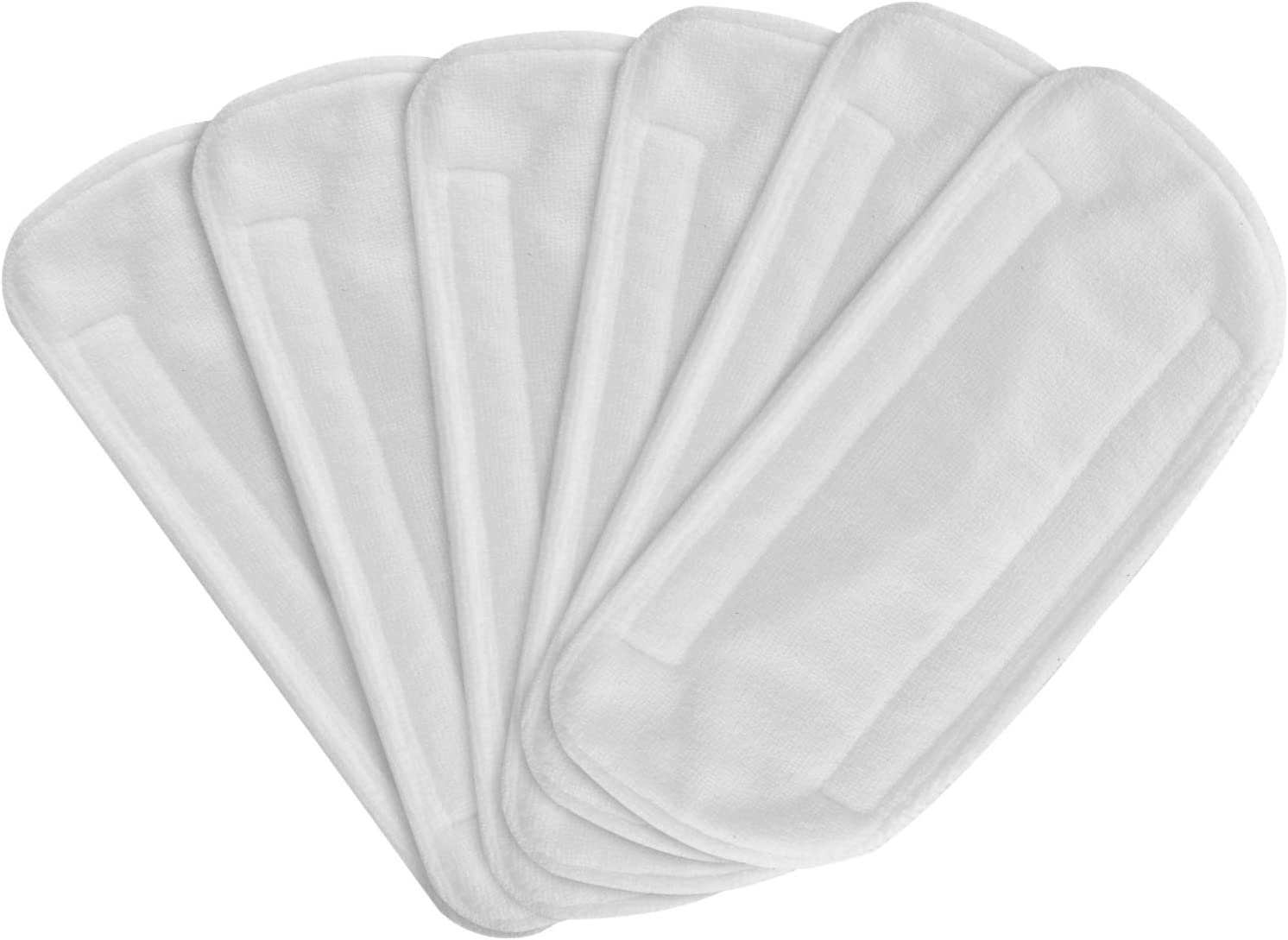 Secura 6 Pack Microfiber Mop Pads, Replacement Washable Cleaning Pads for EM-516 (White)