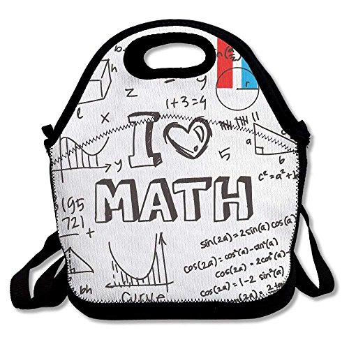 (Outdoor Travel Lunch Bag Tote Boxes Printables I Love Math Math Is Fun Food For For Picnic Handbags Lunchbox Work Gym Food Storage For Girls)
