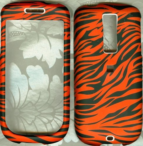 Orange zebra cuteTmobile HTC mytouch 3G phone cover hard