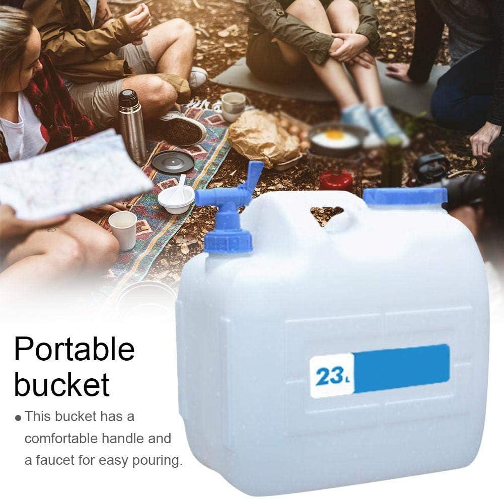 Dough.Q Cubo port/átil para el Coche para el Exterior 23 L con Grifo Auto-conducci/ón para el Exterior Almacenamiento de Agua para el hogar Camping