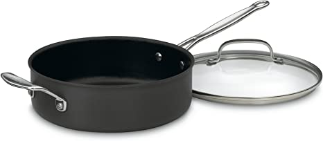 Cuisinart Nonstick Saute Pan with Helper Handle and Lid