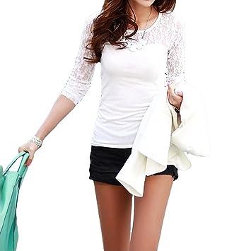 T-shirts OxGrow™ Floral elástico con una tira de pantalones de deporte para mujer