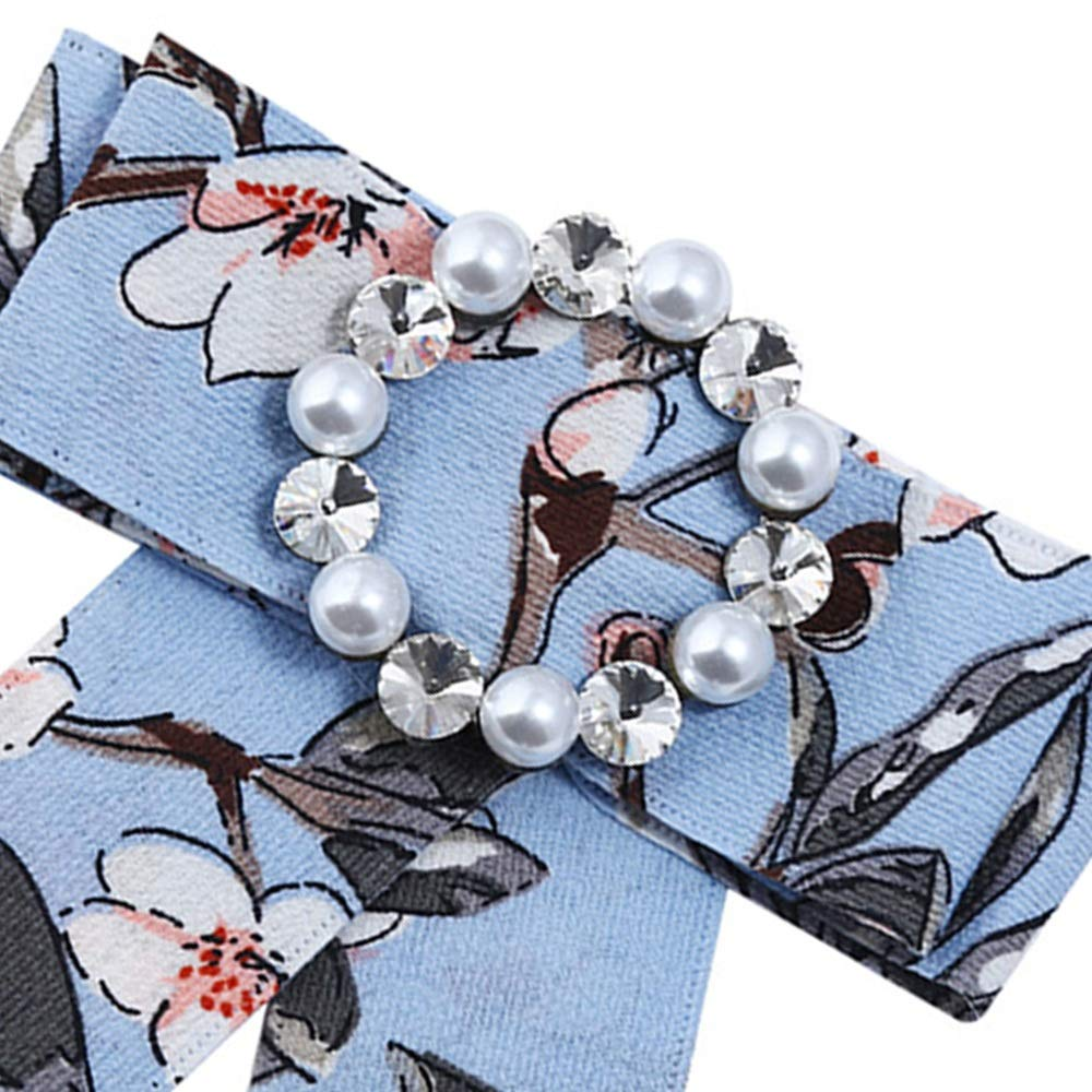 Believe in yourself Fashion Crystal Pearl Dangle Wedding Party Bow Tie Women Ribbon Pre Tied Neck Tie Adustable Brooch Pin Clip