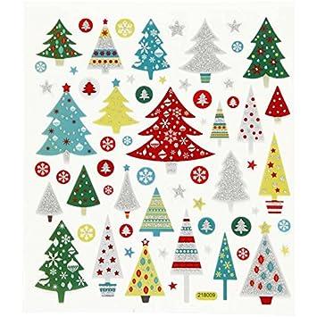 Weihnachtsbaum Weihnachten.Set Sticker Aufkleber Weihnachtsbaum Mit Glitzer Weihnachten Winter Schnee Geschenke