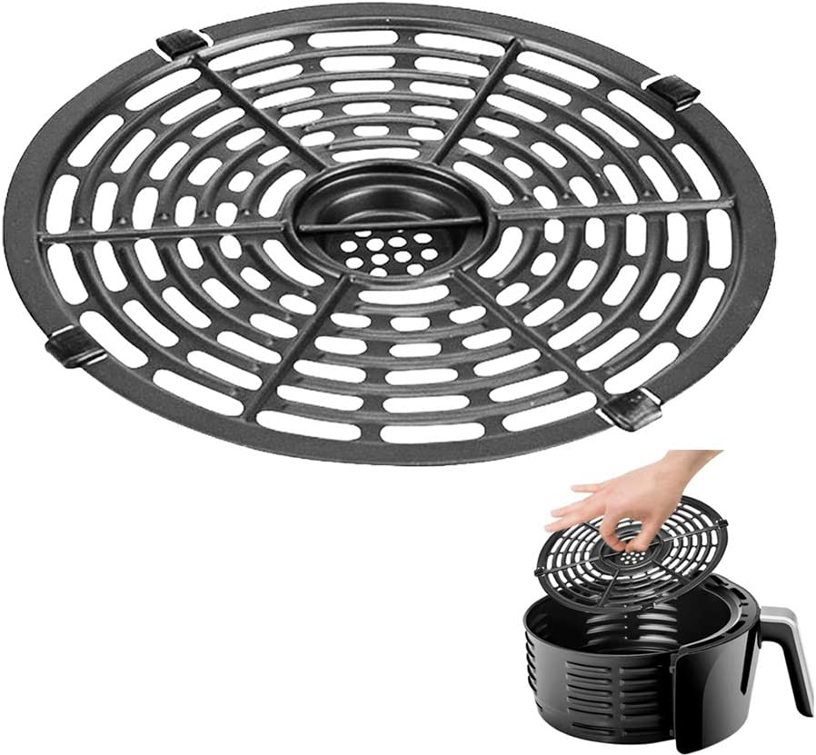 Air Fryer Replacement Grill Pan For Power Gowise 5QT Air Fryers, Crisper Plate,Air fryer Grill Plate, Non-Stick Fry Pan, Dishwasher Safe