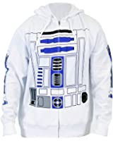 Mighty Fine Star Wars I Am R2-D2 Costume Zip-Up Adult Hoodie