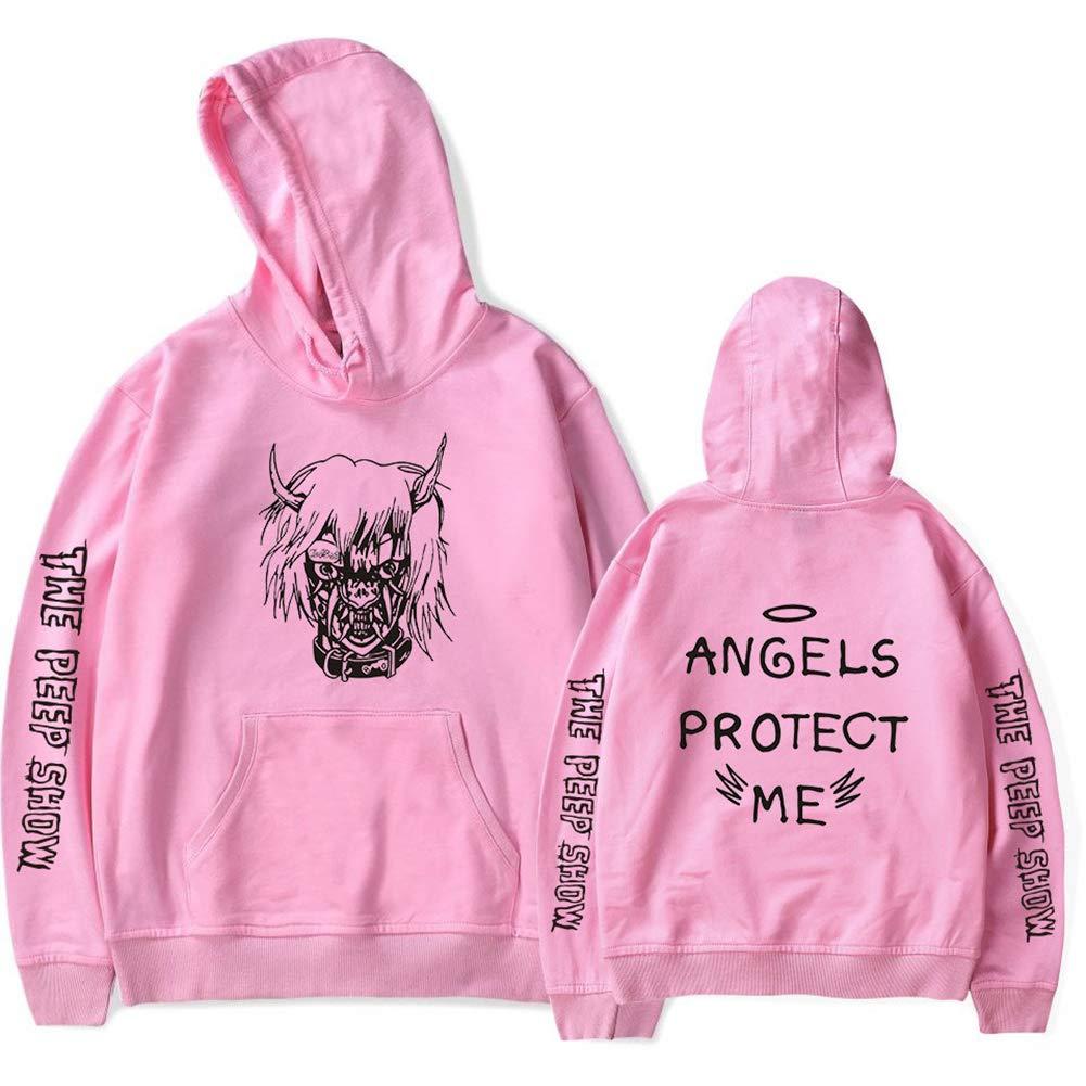 Imzoeyff Unisex Hoodie Kapuzenpullover Sweatshirt, Mode Lässig Lilpeep Europa Und Samt Langarm Kapuzenpullover Mantel