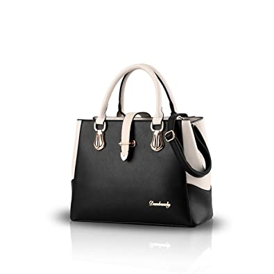 2dda6957e689 NICOLE DORIS new black and white faishon style handbag casual shoulder bag  cross-body work bag