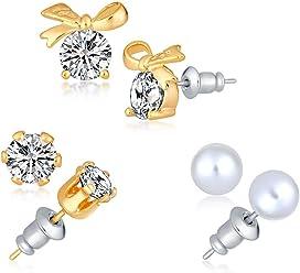 Sukkhi Stud Earrings for Women (Yellow)(E73180)