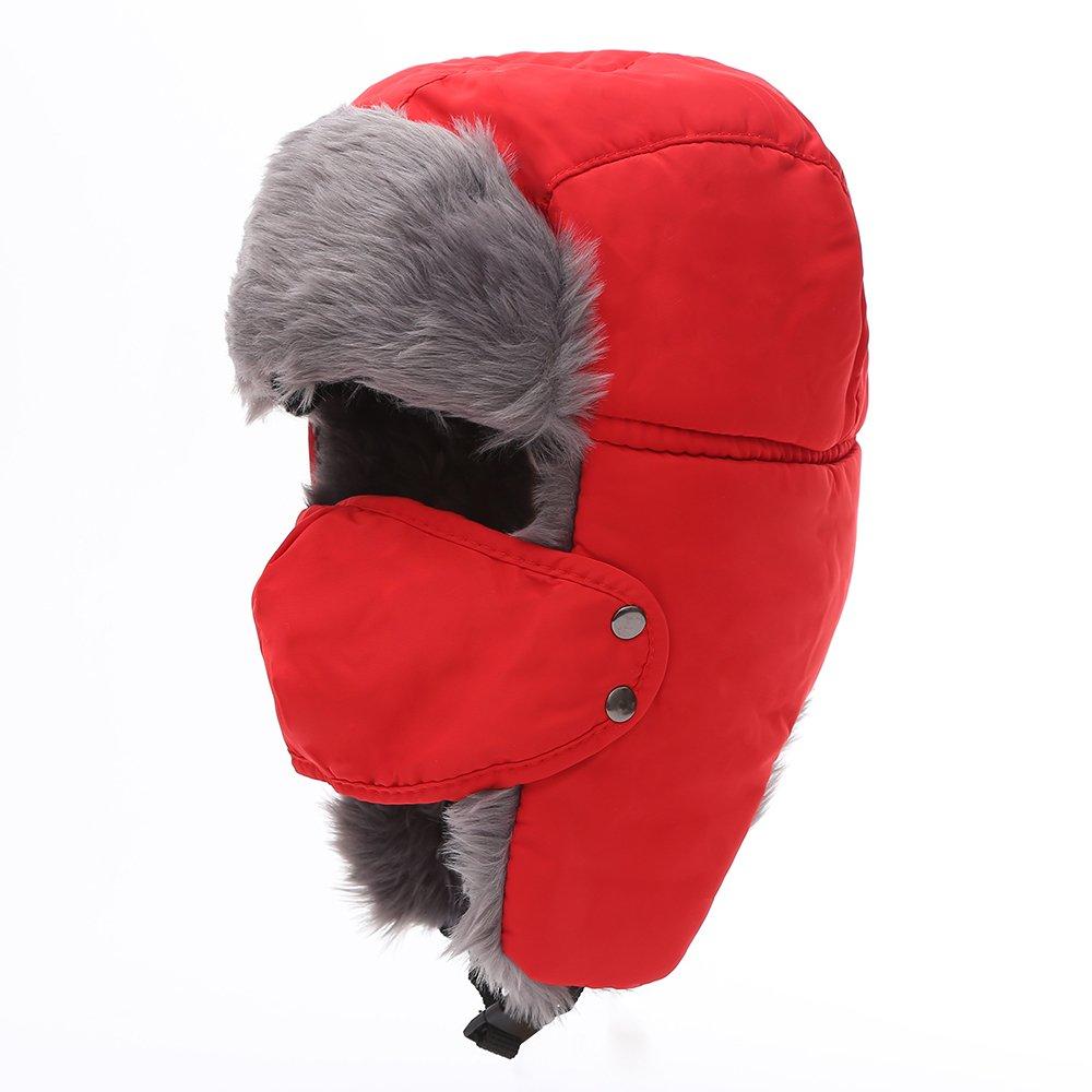 Mirah June Unisex Nylon Russian Style Winter Ear Flap Hat Black One Size