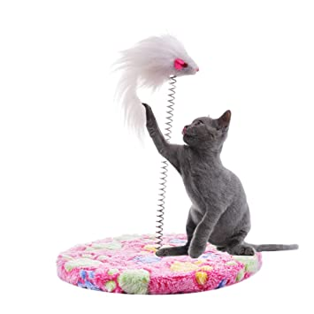 Awhao - Rascador para gatos y gatos, juguete de muelles para ...