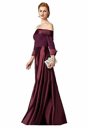 951817a3a00c8 Robe Mère de de Cocktail Cérémonie de Soirée pour Mariage Longue Sol 2018 Col  Bateau Manche