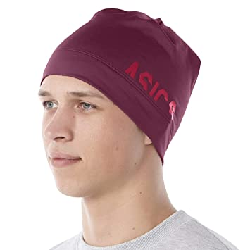 fc67d0e9e16 Asics Logo Beanie Cordovan  Amazon.co.uk  Sports   Outdoors