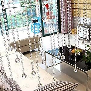 Amazon.com: Cortina de cristal con cuentas de cristal para ...