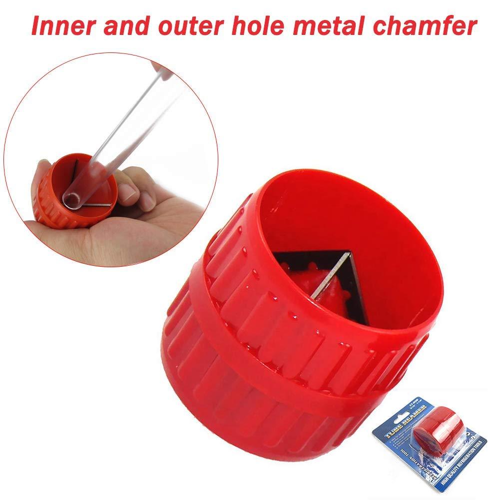 plomberie S-Wang 1 emporte-pi/èce en plastique pour tuyau int/érieur et ext/érieur en PVC tube en cuivre /ébavurage outil /à main