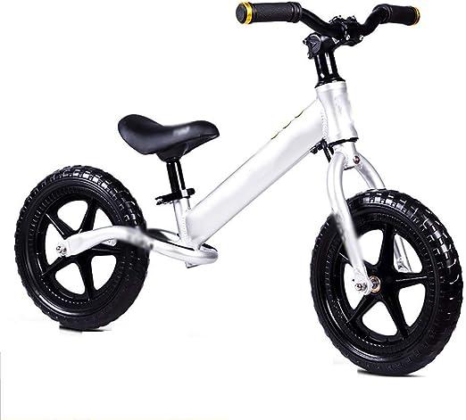 WHTBOX Bicicleta de Equilibrio para Aprender,Bicicleta de Equilibrio Infantil,No Pedal,Walking,Balance Entrenamiento, Robusto,NiñO,NiñA,Bicicleta para NiñOs y NiñOs de 2 a 6 AñOs,Silver: Amazon.es: Jardín