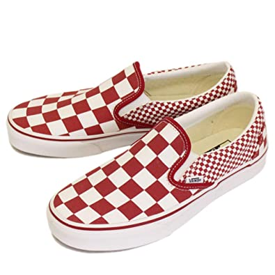 Vans Mens U Clasic Slip ON Mixed Checker Chili Pepper Size 4.5 01ee8cc96