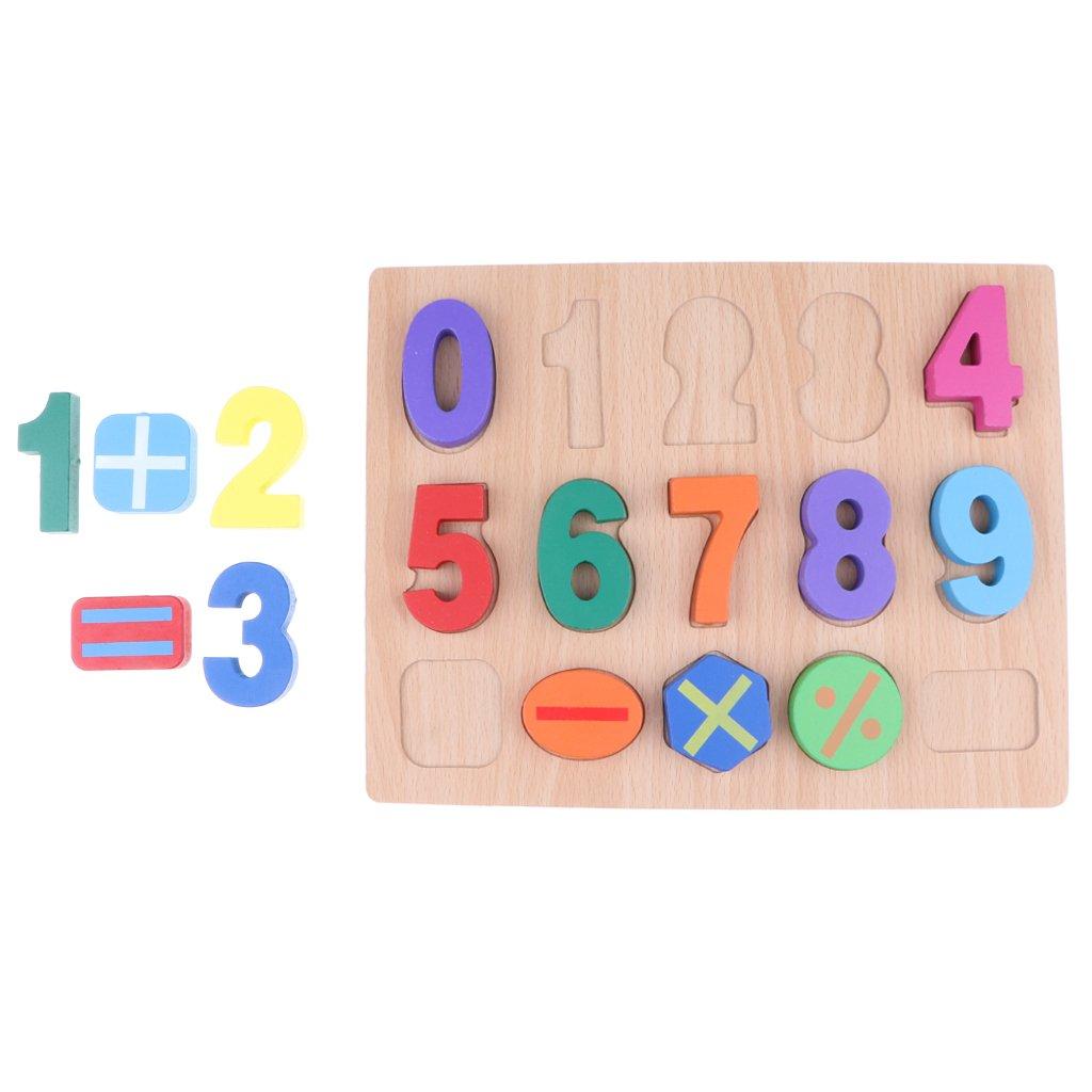 再再販! MagiDeal木製番号数学学習パズルボード子供用おもちゃ0 ~ 9 10番号と5 10番号と5 Stacking Math Signs 9 Sorting Stacking Developmentalトイ B07F5P3GRX, ブランディア:210ae450 --- 4x4.lt