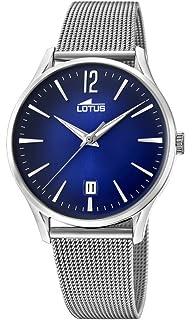 230e57106489 Lotus Watches Reloj Análogo clásico para Hombre de Cuarzo con Correa en  Acero…