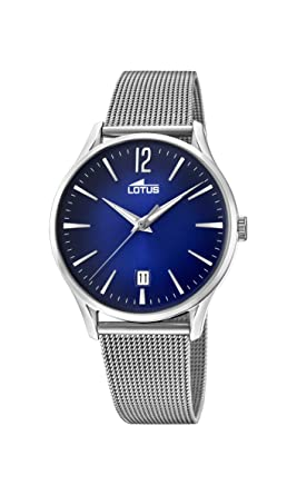 c18db3552074 Lotus Watches Reloj Análogo clásico para Hombre de Cuarzo con Correa en  Acero Inoxidable 18405 3  Amazon.es  Relojes