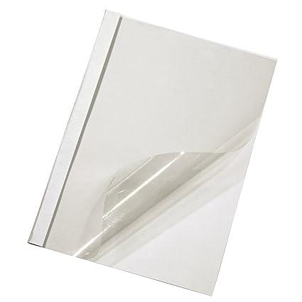 DIN A4 12 mm 100 Stück weiß Thermobindemappen
