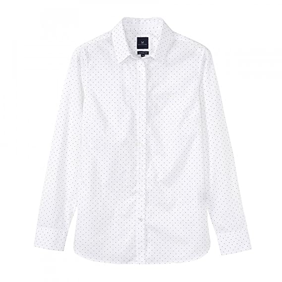 c6264ae7fca Women s Crew Clothing Hallsand Poplin Shirt - White Linen Spot  Amazon.co.uk   Clothing